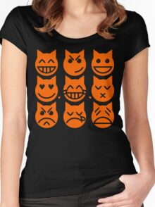 The 9 Lives of the Emoji Cat Women's Fitted Scoop T-Shirt