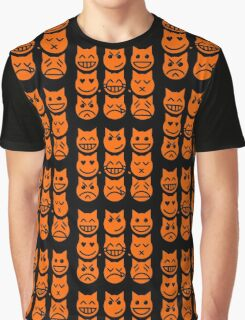 The 9 Lives of the Emoji Cat Graphic T-Shirt