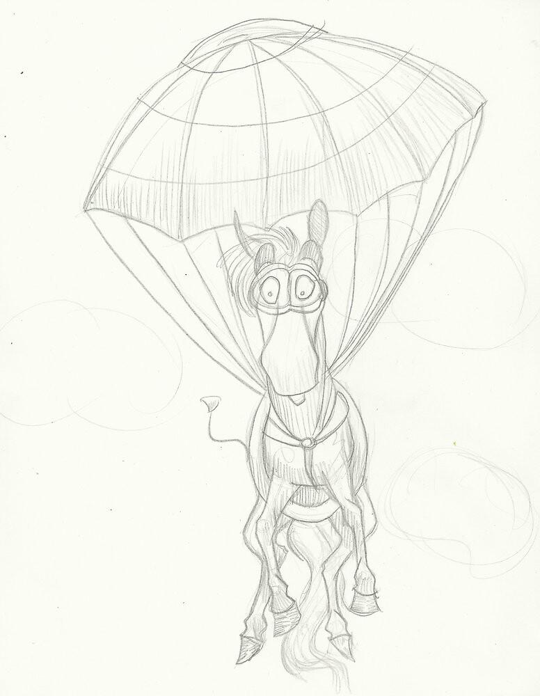 Parachuting Pony! by Zambii28