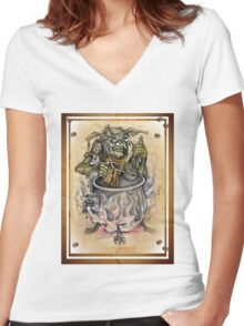 Prof Foggnoggin Women's Fitted V-Neck T-Shirt