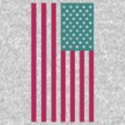 Star Spangled Banner - Aqua/PurpleRed by paperboyjim