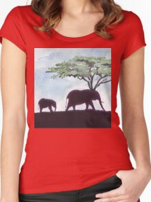 Africa's Grandest Animal Women's Fitted Scoop T-Shirt