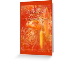 Wedding Joy Greeting Card - Turks Cap Lilies Greeting Card