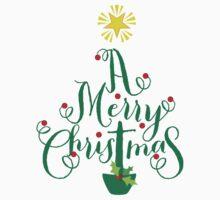 FESTIVE CHRISTMAS T-SHIRT :: christmas tree type One Piece - Short Sleeve