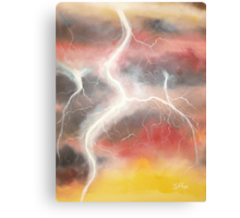Lightening Canvas Print