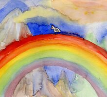 chicken who wanted to be on the top of the rainbow by Marianna Tankelevich