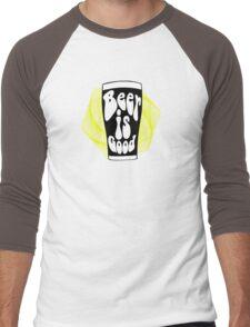 Beer is Good Men's Baseball ¾ T-Shirt