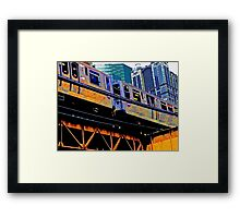 { chicago l, chicago el - series: 1 } Framed Print