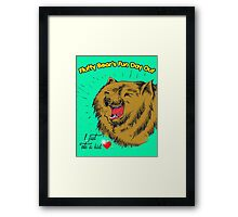 Fluffy Bear's Fun Day Out Framed Print