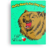 Fluffy Bear's Fun Day Out Metal Print