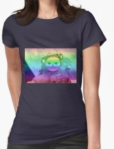 Rainbow Space Cat Womens Fitted T-Shirt