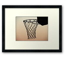 My basketball hoop Framed Print