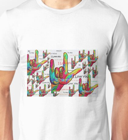 LOVE IN ANY LANGUAGE Unisex T-Shirt