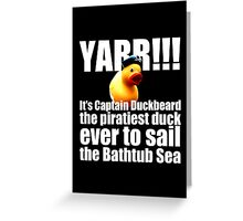 Captain Duckbeard Greeting Card