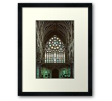 Stained glass window Exeter Cathedral 198101140009 Framed Print