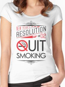 New Year's Resolution #2 - Quit smoking Women's Fitted Scoop T-Shirt
