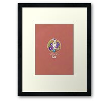 Virgo Dinosaur Zodiac Framed Print