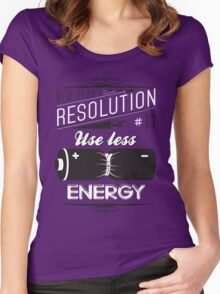 New Year's Resolution #11 - Use less energy Women's Fitted Scoop T-Shirt