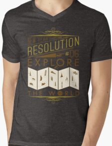 New Year's Resolution #6 - Explore the world Mens V-Neck T-Shirt
