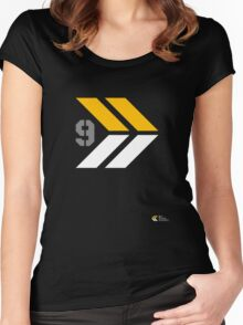 Arrows 1 - Yellow/Grey/White Women's Fitted Scoop T-Shirt