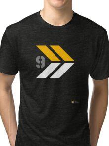 Arrows 1 - Yellow/Grey/White Tri-blend T-Shirt