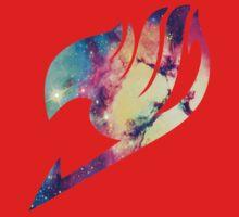 Galaxy Fairy Tail Logo Kids Tee