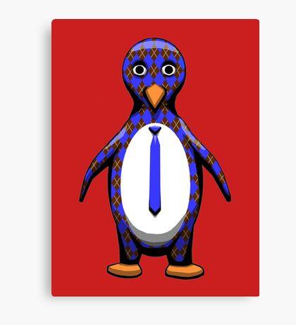 Argyle Penguin Canvas Print