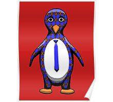 Argyle Penguin Poster