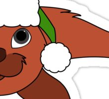 Red Baby Seal with Christmas Green Santa Hat Sticker