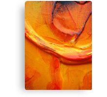 Orange Flower Petal Canvas Print