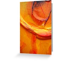 Orange Flower Petal Greeting Card