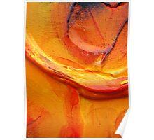 Orange Flower Petal Poster