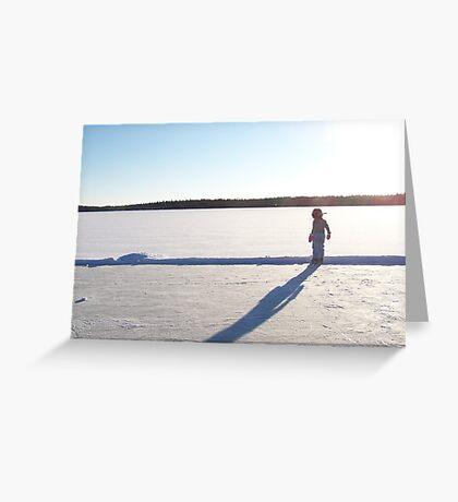 Winter lake rink Greeting Card