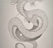 Ying Yang Dragon  by Ami  Wilber-Mosher