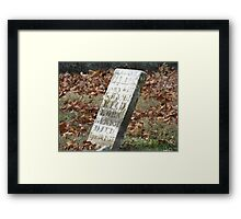 Fallen but not Forgotten Framed Print