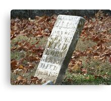 Fallen but not Forgotten Canvas Print