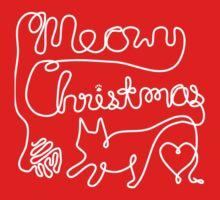Meowy Christmas - Yarn Cat Love One Piece - Short Sleeve