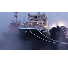 The ship in the mist cool Photographic Print