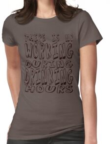 Drinking Time - Black Womens Fitted T-Shirt