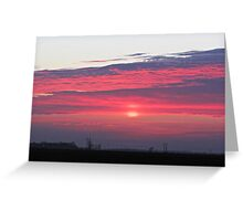 Clouds of Crimson Greeting Card