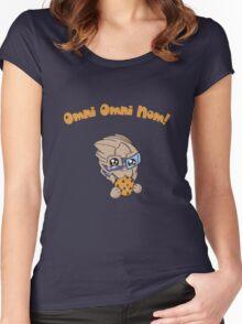 Omni Omni Nom! Women's Fitted Scoop T-Shirt