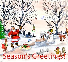 Season's Greetings to you! by Maree  Clarkson