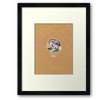 Pisces Dinosaur Zodiac Framed Print