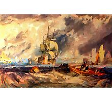 An Evening in Portsmouth Harbour 1825 Photographic Print