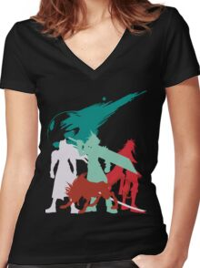 Final Fantastic Four Women's Fitted V-Neck T-Shirt