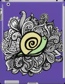 iPad Paisley Snail by eleveneleven