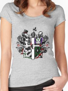Criminal Coat of Arms- White Women's Fitted Scoop T-Shirt