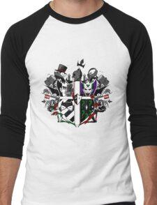 Criminal Coat of Arms- White Men's Baseball ¾ T-Shirt
