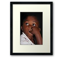Eyes That Speak ... Framed Print