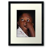 Eyes That Speak ... Framed Print